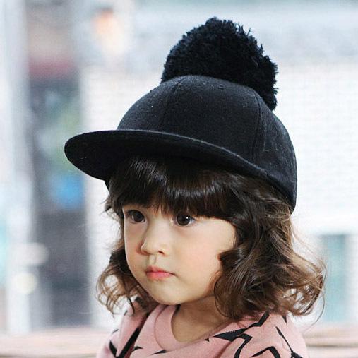 韩国春秋儿童棒球帽子 宝宝嘻哈鸭舌帽 华南亲子毛呢骑士马术礼帽