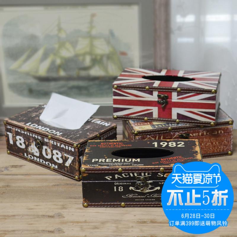 Американский ретро ткань творческий домой гостиная комната домой еда коробка салфеток кофейный столик насосные упакованный аксессуары украшение