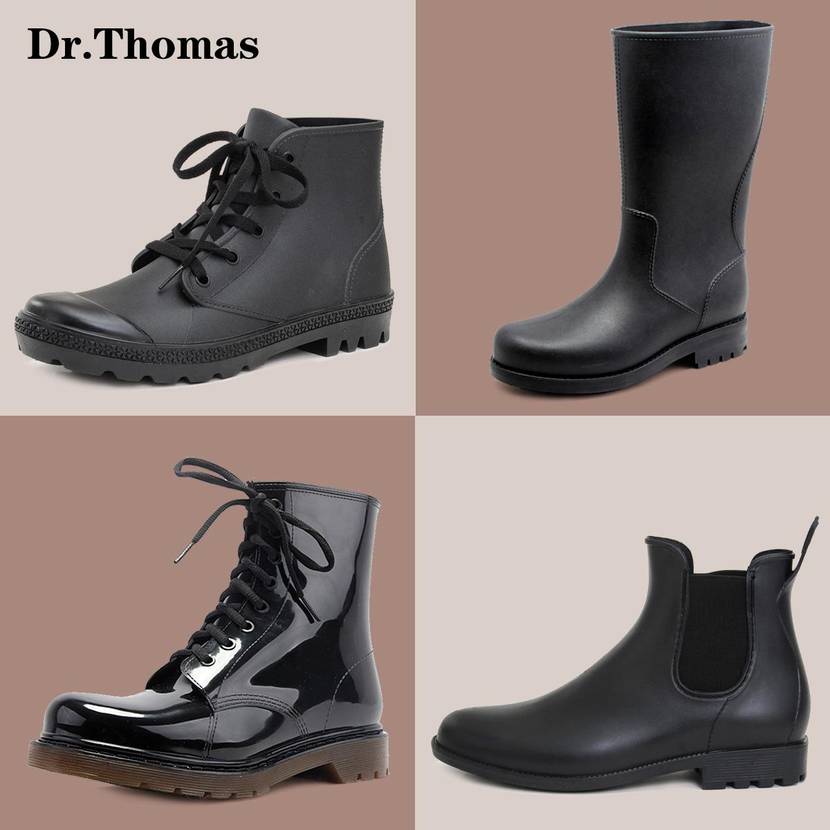 Ма Dingfan Челси моды мужской моде высокие ботинки рыбалка воды ботинки ботинки случайных сапоги калоши Тайд