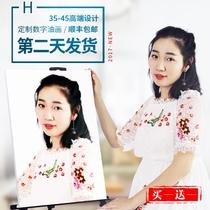 男爱豆手绘填充数字油画数字油彩画diy段宜恩Jackson王嘉尔GOT7