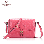 Beach mice 2015 winter season new handbags fashion bags in Europe and small baodan patent leather shoulder bags diagonal package