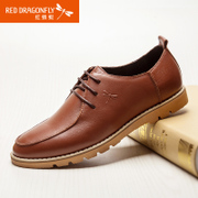 Red dragonflies daily recreational Department autumn new genuine leather men's shoes fashion men's shoes shoes