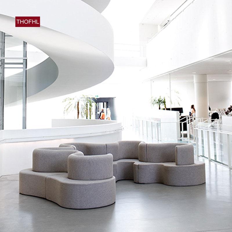 接待会客前台沙发 创意沙发 休闲区沙发公共休闲沙发超市办公家具