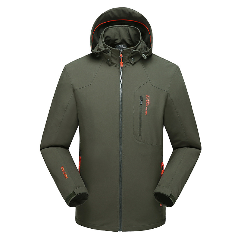 Four seasons outdoor sports single layer solid soft shell assault suit mens waterproof soft shell suit hiking suit windbreaker coat