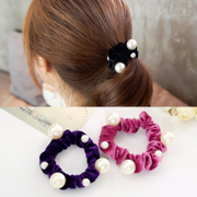 Know NI Korea flannel imitation Pearl rope made by the big hair bands, Japan and South Korea head band hair band Holster