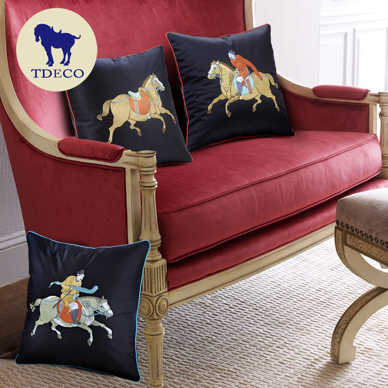 Tang Dynasty decoration industry creative new Chinese style bag, pillow, cushion, Polo picture, embroidered fabric, post bag