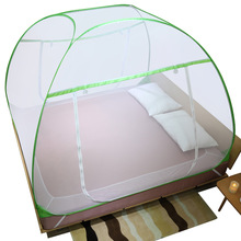 The Mongolian yurt is free of installation of 1.2 m 1.5 princess's wind-print net, encrypted and thickened folded mosquito net, 1.8 m bed for double use