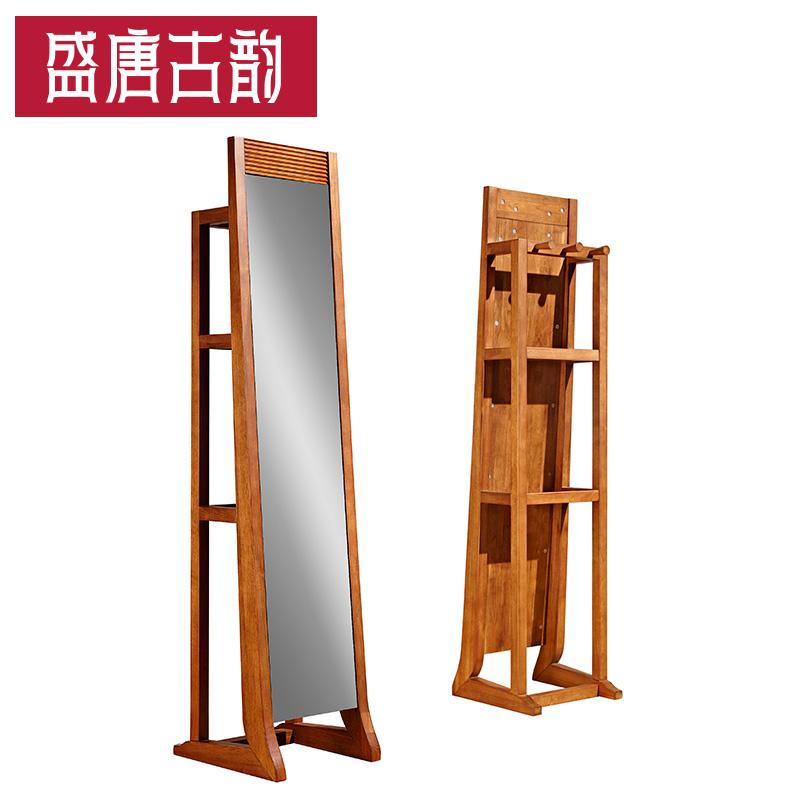 Держать династия тан мощи дерево соус зеркало вешалка все тело пол, тип многофункциональный тест одежда зеркало ворота зал мебель M302