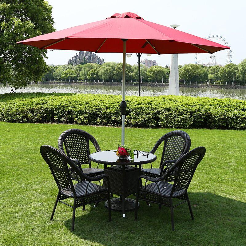 野人穀戶外桌椅藤椅三件套庭院 室外陽台桌椅藤編椅子五件套