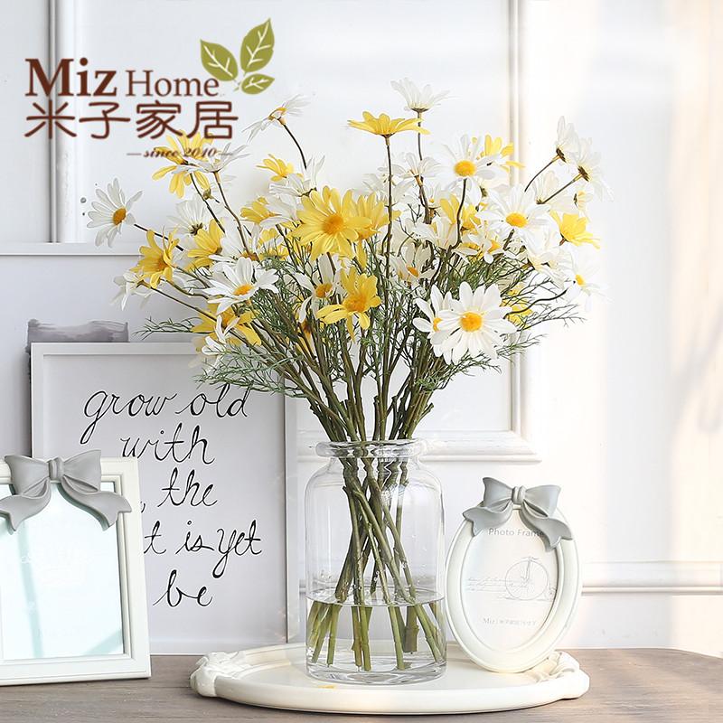 BX歐式全透明玻璃花瓶 富貴竹百合水培植物花藝花器客廳桌麵擺件