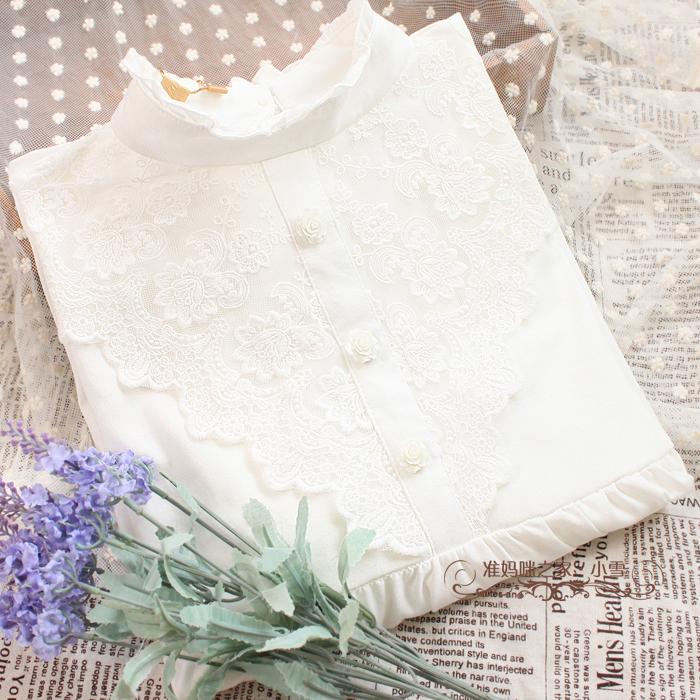 Мода женщин рубашки в конце весны и осени кружева материнства платья осень рубашка с длинным рукавом женщин t рубашка хлопка Q653