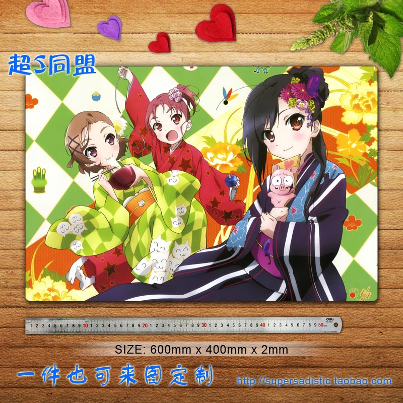 4 accel world black snow Jicang Island thousand Lily animation large mouse pad game pad