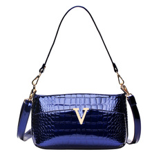 KaiKun female bag lady handbag 2015 spring tide female bag patent leather crocodile lines of women's single shoulder bag
