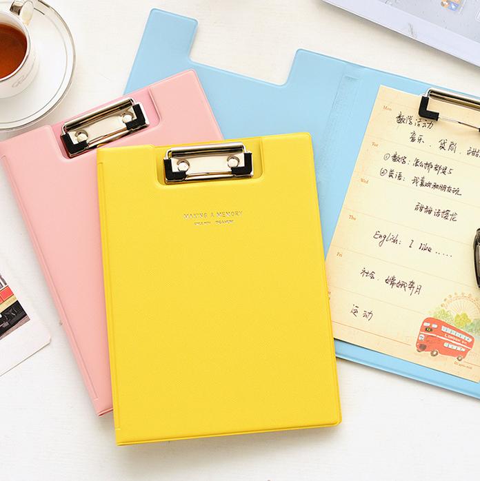 韩国文具 可爱优质A5文件夹 资料试卷夹写字夹板 办公用品