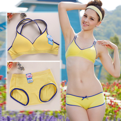 b493658ebb Running bra suit vest type thin model Young girl without rims puberty  students underwear bra cotton
