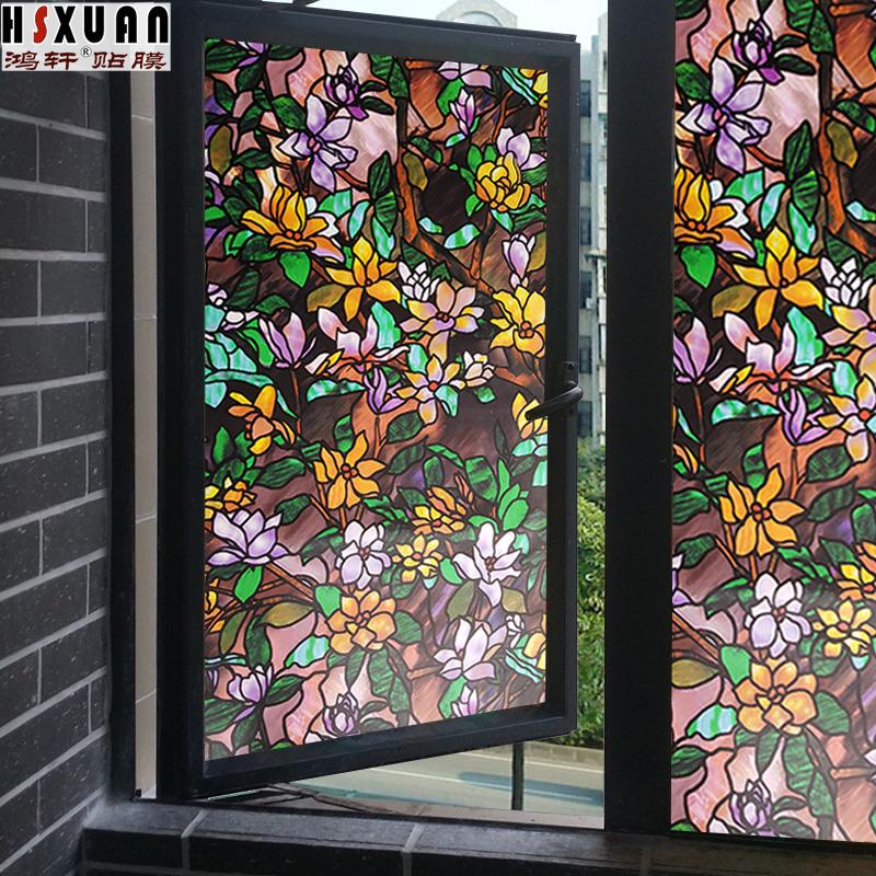 鴻軒窗戶貼紙遮光推拉門貼玻璃貼紙衛生間窗紙玻璃貼膜不透明3102