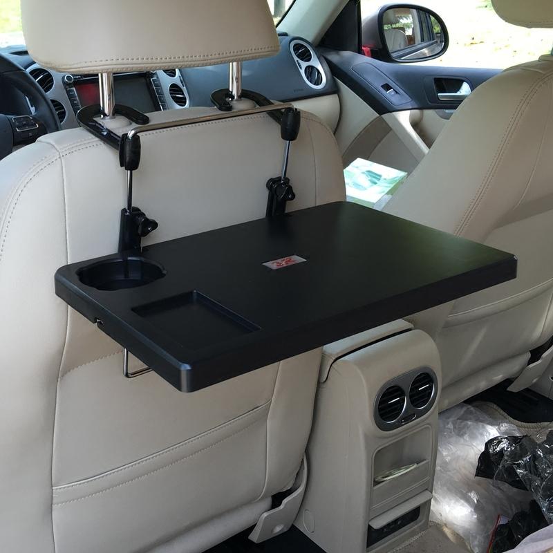 車用椅背餐台車載餐桌 汽車電腦桌筆記本台零食放置小飯桌旅行用