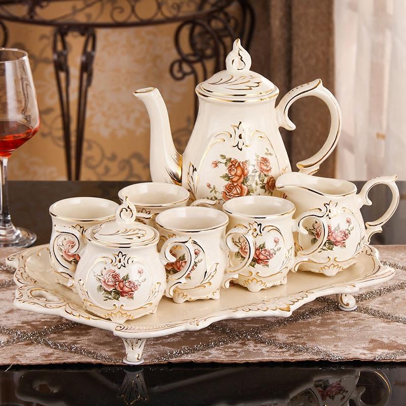 Творческий керамический чайный набор комплект Кофейная чашка в европейском стиле комплект Практическая романтическая личность свадебное подарок