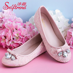 Fun fall 2015 involved increased within the new sweet lace rhinestone bow shoes shoes with round head T53060