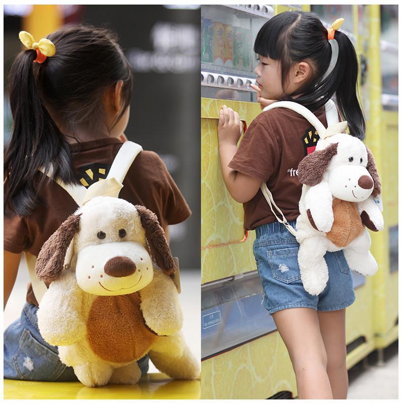 幼儿园双肩包1-2-3岁宝宝小书包可爱背包卡通狗公仔包包男女儿童