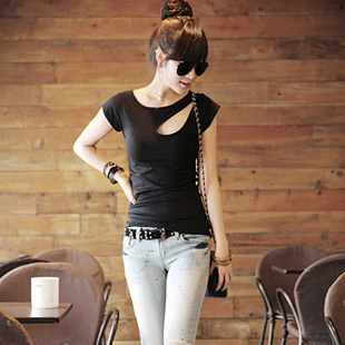 Летняя мода дамы тонкий хлопок короткий рукав t рубашка плюс размер t рубашки уязвимость сексуальная рубашка короткие рукава рубашки верхней