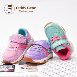 泰迪珍藏儿童机能鞋1-3岁男女童春秋季宝宝运动鞋软底透气网布鞋