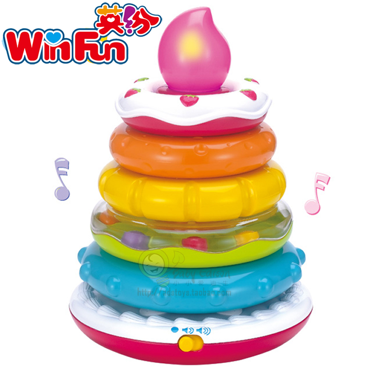 Английский многочисленные радуга торт геморрой музыка крышка круг с днём рождения !! музыка рука глаз объединение настроить головоломка обучения в раннем возрасте 6-12 месяц