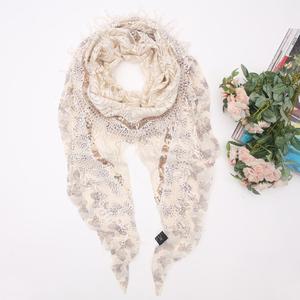 圣雅诗蒂围巾 韩国女丝巾 1481百搭流苏装饰三角空调披肩两用