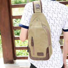 Han edition sports leisure canvas men chest package his portable travel bag female male bag canvas bag fashion bag