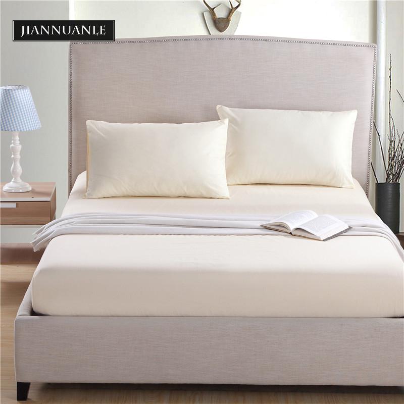 純色床笠純棉加厚床墊套罩席夢思保護套雙人防滑1.8m全棉床單單件