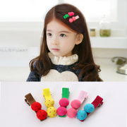 Know children in NI the Korean version of polka dot fabric button hair clips side clips baby hair accessories for girls clip bangs clip jewelry
