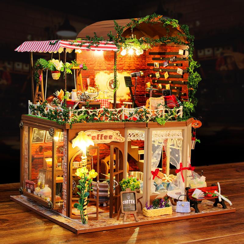 正品弘达diy小屋芮亚的时光玩具模型手工拼装制作别墅礼物