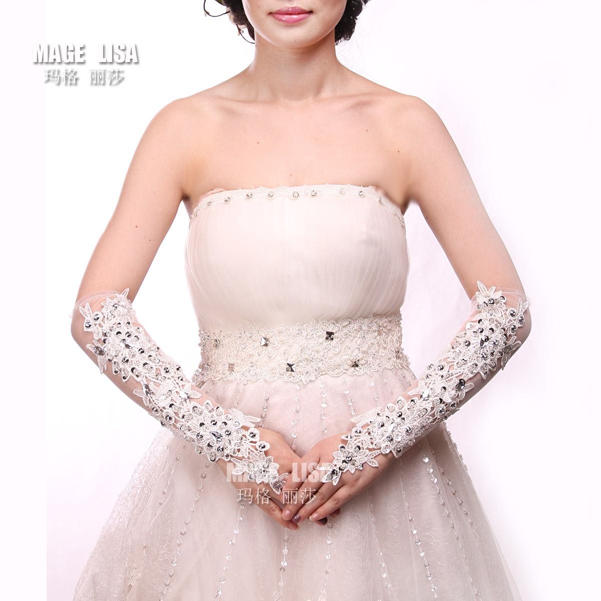 Белые летние кружевные перчатки красные перчатки длинные magelisha Перчатка перчатки алмаз невеста невеста