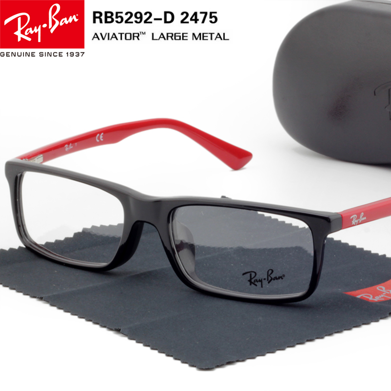 f592d9407ab Authentic RayBan Ray-Ban glasses frame plate glasses frame black men and  women spring leg. Loading zoom