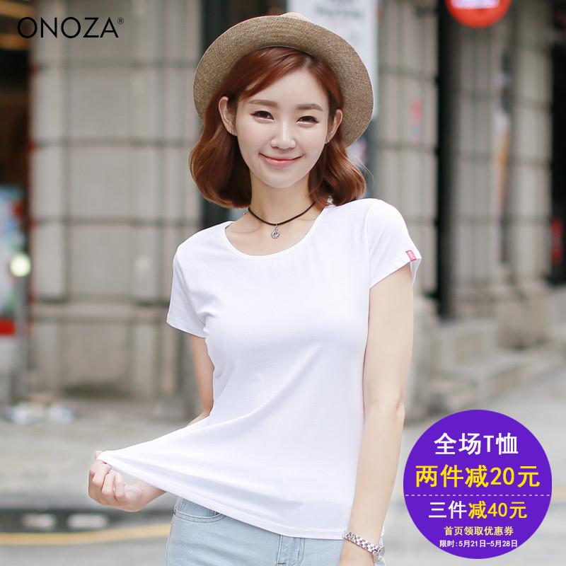 女裝夏裝2017 潮短袖T恤 薄款修身百搭空白打底衫上衣半袖體恤