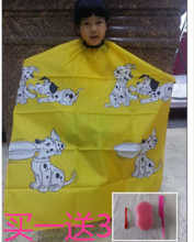 New cartoon baby children's hair hair cutting tool apron for haircut Waterproof cut sheet and mail