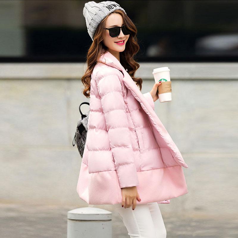 2015 году зимняя новой корейской версии плюс размер Осень/Зима Женская одежда тонкие длинные мягкие пальто в зимнее пальто