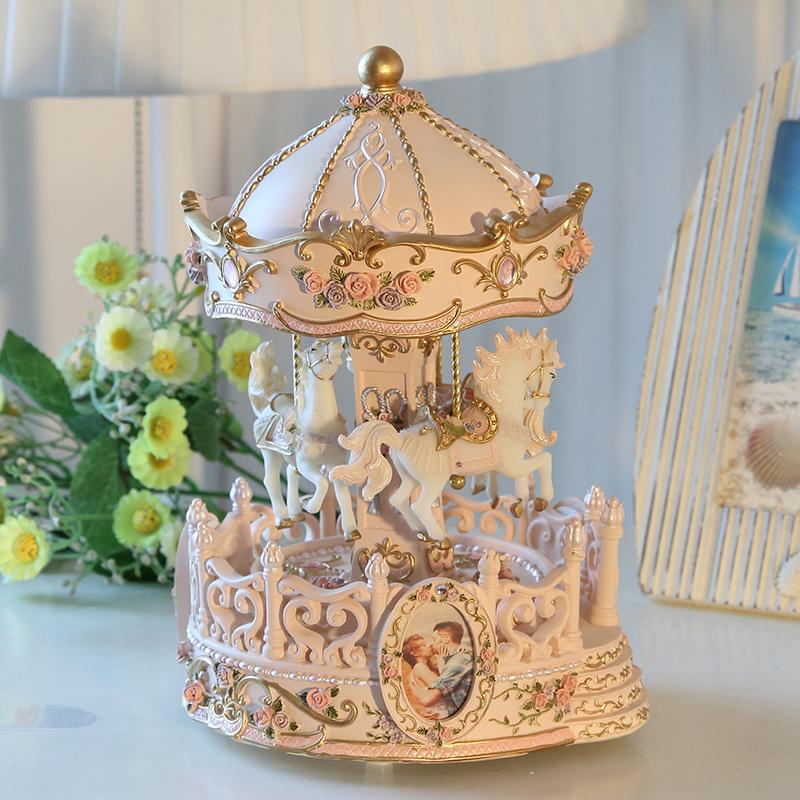 Вверх и вниз лифтинг карусель музыкальная шкатулка шанхай, пекин, тяньцзинь музыкальная шкатулка творческий день рождения подарок девочки ребенок украшение diy сделанный на заказ