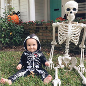 Baby Skeleton Cotton Onesie Costume