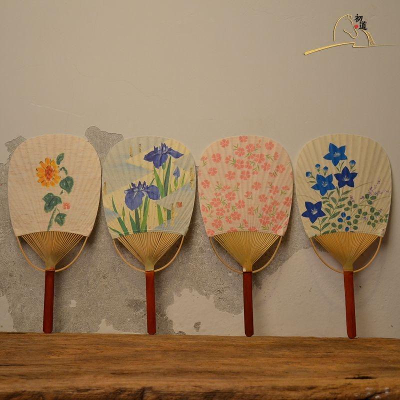 券后15.00元团扇 纸制日式和风扇 日本女扇和服扇 白色手绘空白扇子文艺竹扇