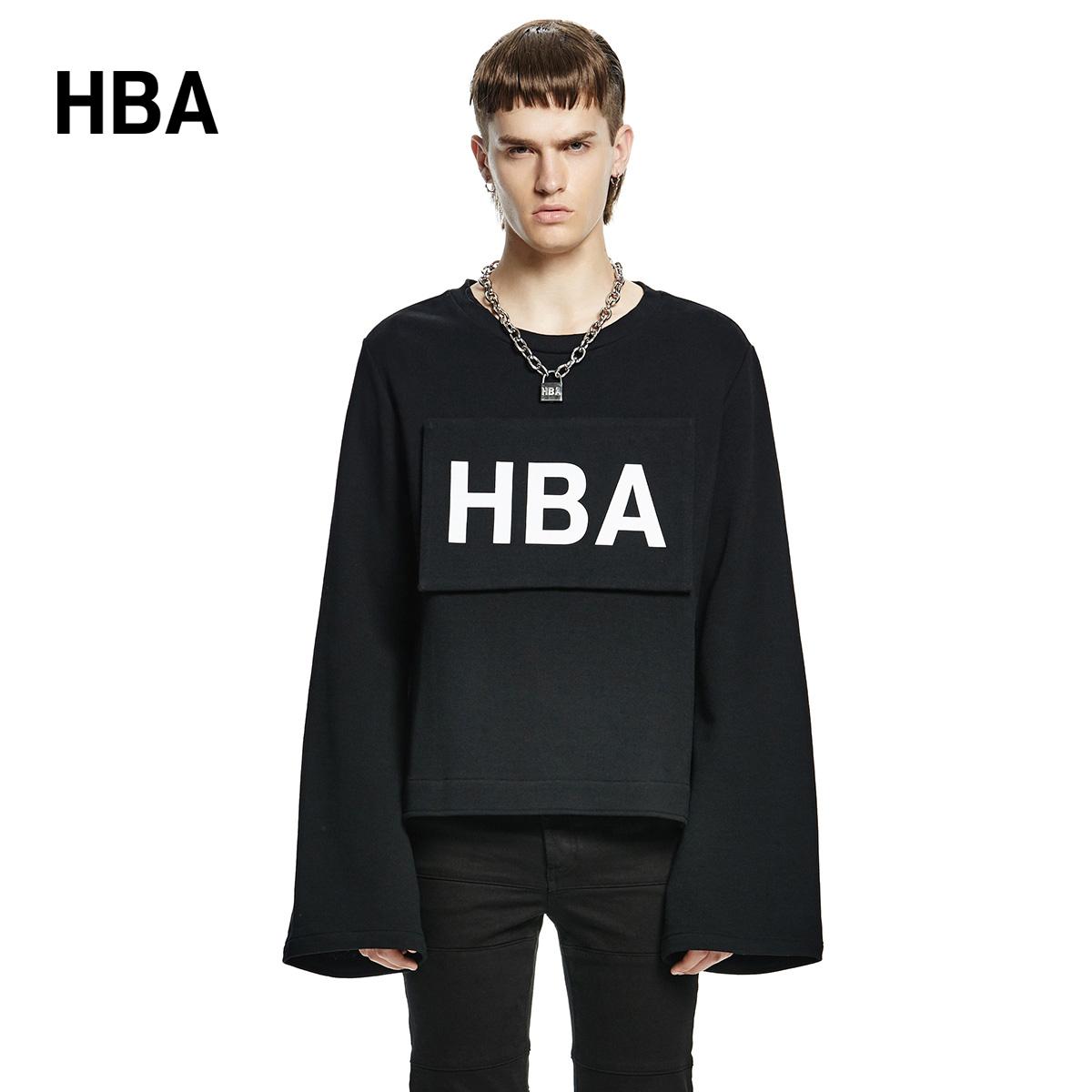 【INXX】HBA黑色休閑衛衣HB53108984