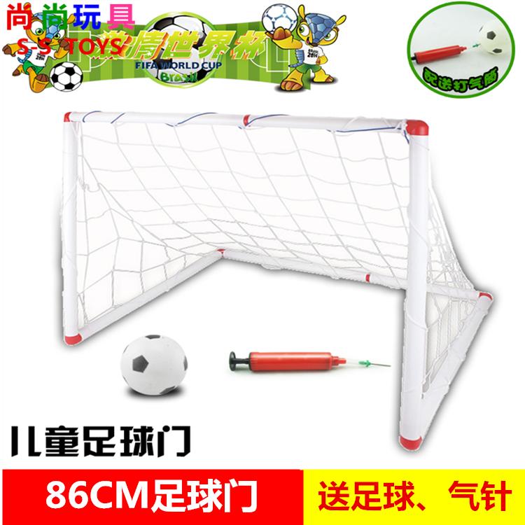 86CM большой размер ребенок футбол цели съемный наряд полка детский сад на открытом воздухе комнатный движение устройство лесоматериалы футбол коробка портал полка