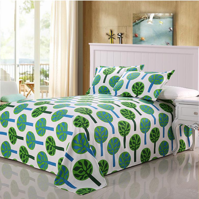 馥家纺 粗布加厚床单单件老粗布双人单人床单全棉床单ins北欧风