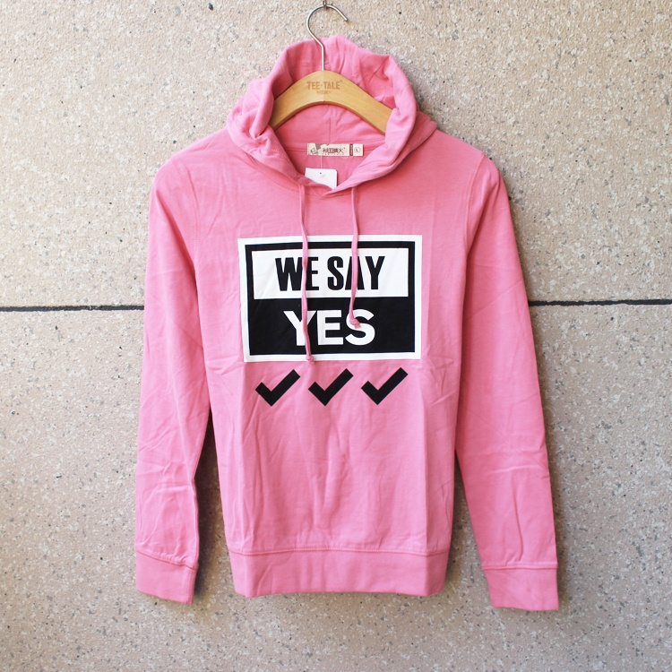 Spring and autumn couples wear womens wear mens wear polished pure cotton thin Hooded Sweater