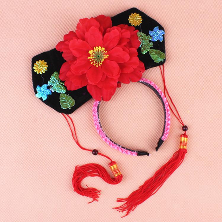 Chen волны 45g ясно к принцесса крышка принцесса аксессуары для волос древний наряд шляпа девушка подарок ребенок фестиваль подарок заставка