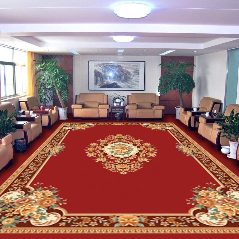 手工腈纶满铺地毯定制接待室地毯 公司办公会议室地毯 加厚欧式