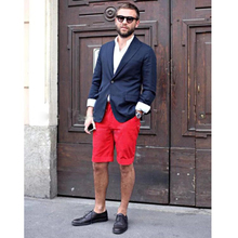 The new summer 2015 Europe and the United States men's cultivate one's morality red suit shorts 5 minutes of pants restoring ancient ways of England tide