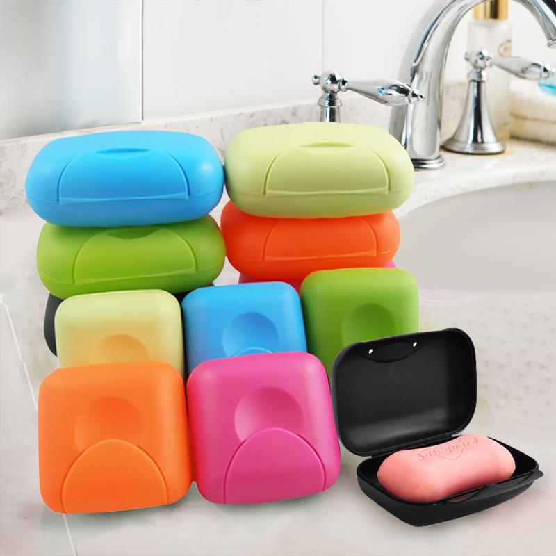 旅行便携式多用途香皂饰品盒时尚糖果创意防水防漏带扣式多彩皂盒