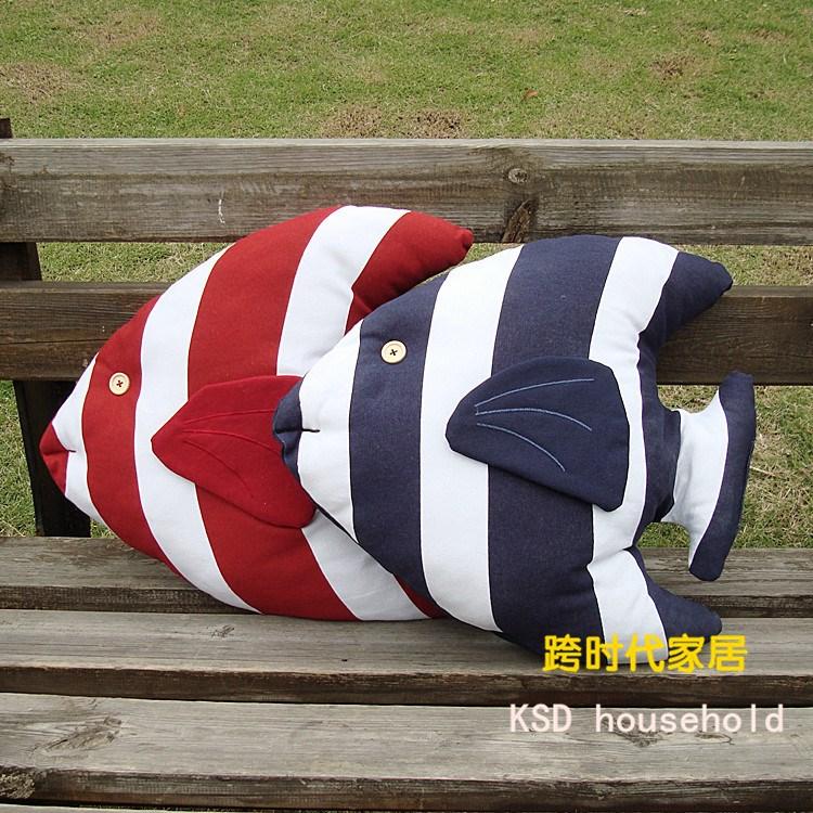 Восточного Средиземноморья стиль тропические рыбы набор из 2 хлопка подушки поясничная подушка плеча pad автомобиля диван домашнего декора