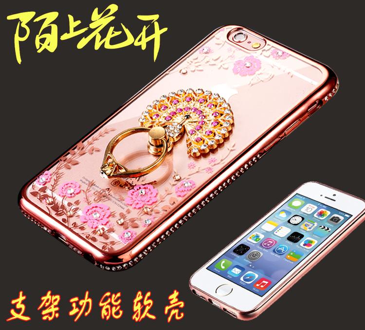 蘋果5手機殼女水鑽iphone5s玫瑰金保護套奢華5s矽膠防摔se手機套